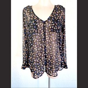 Candies Blouse Black with Floral